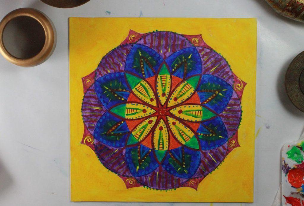 create mandala for stress relief