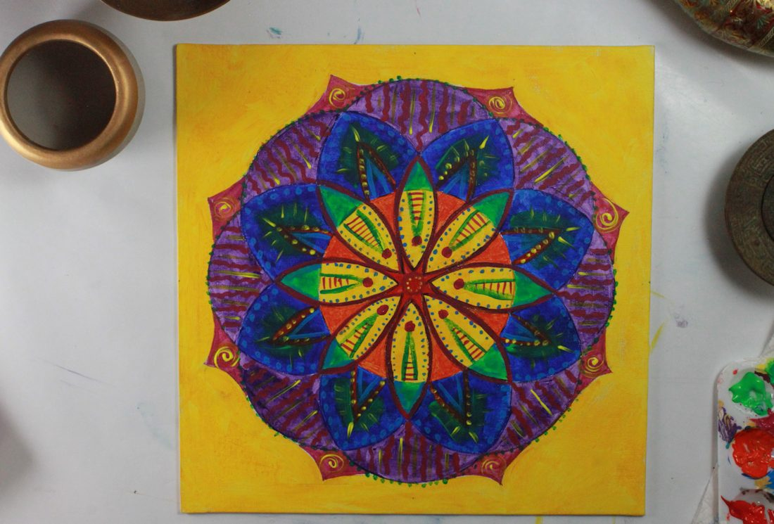create mandala for stress relief