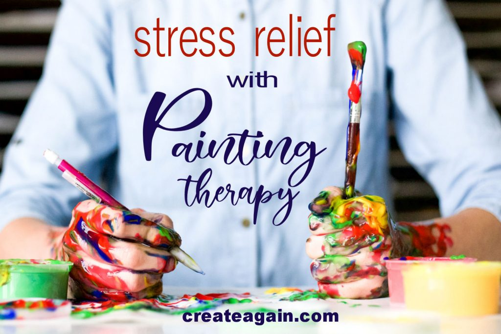 stress relief with painting therapy by heather christian iglesias