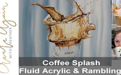 Coffee Splash Acrylic Fluid Art