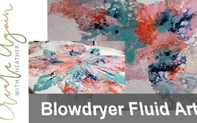 blow dryer fluid flower art