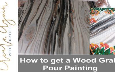 wood grain pour painting